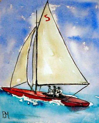 Sailin Print by Pete Maier
