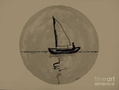 All-overs Painting - Sailing Into The Moon by Marsha Heiken
