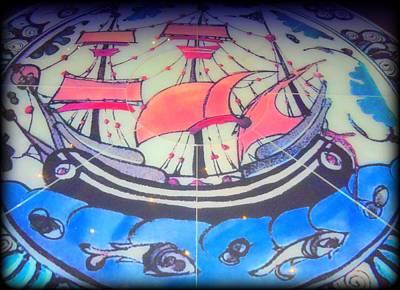 Sailing Mosaic Print by Randall Weidner