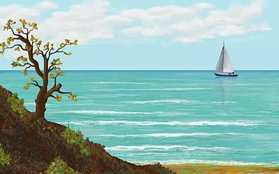 Sailing Print by Tony Rodriguez