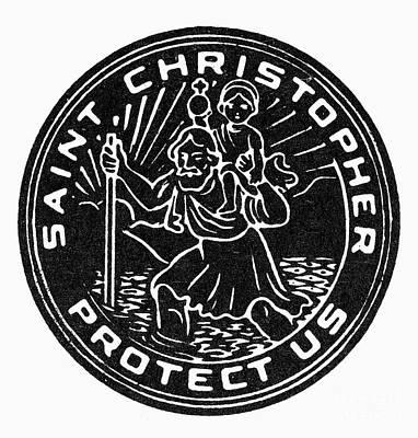 Saint Christopher Medal Print by Granger