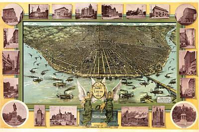 Saint Louis 1896 Print by Donna Leach