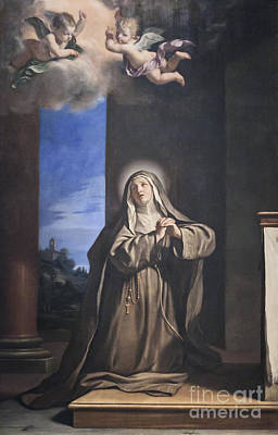 Saint Mary Magdalene Penitent By Il Guercino Print by Roberto Morgenthaler