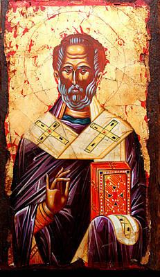 Egg Tempera Painting - Saint Nicholas by Artur Sula