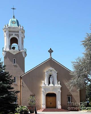 Saint Patrick's Church - Larkspur California - 5d18470 Print by Wingsdomain Art and Photography