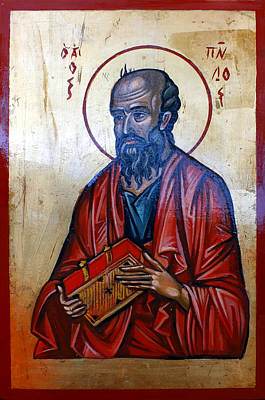Egg Tempera Painting - Saint Paul by Filip Mihail