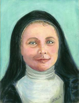 Saint Therese Of Lisieux Original by Susan  Clark