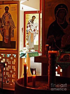 Saints And Candles Print by Sarah Loft
