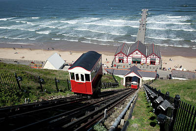 Built Structure Photograph - Saltburn Funicular Railway by Ken Fisher Photography and Training
