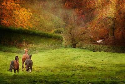 Livestock Digital Art - Salthrop Park by Dorota Kudyba