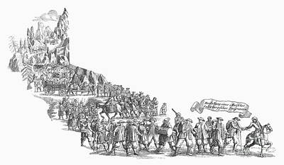 1732 Photograph - Salzburg Emigrants, 1732 by Granger