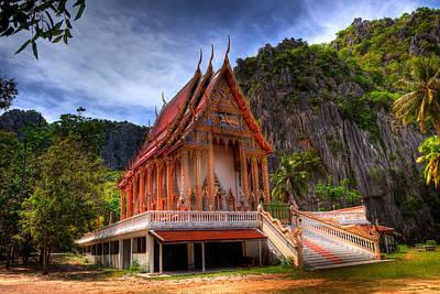 Buddhist Photograph - Sam Roi Yot Temple by Adrian Evans