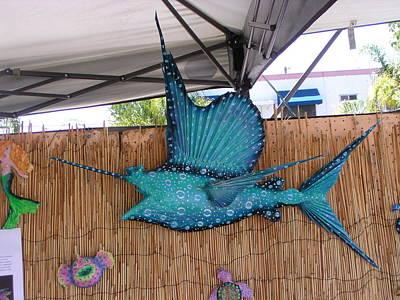 Palmfish Sculpture - Sampson The Sailfish by Dan Townsend