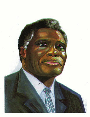Samuel Kobia Print by Emmanuel Baliyanga