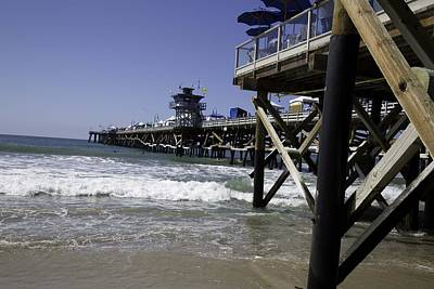 San Clemente Pier Print by Joenne Hartley