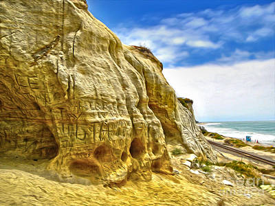 San Clemente Skull Rock Print by Gregory Dyer