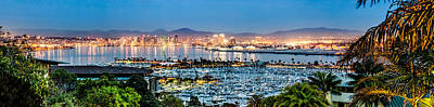 Panoramic Of San Diego Photograph - San Diego Bay Panoramic by Josh Whalen