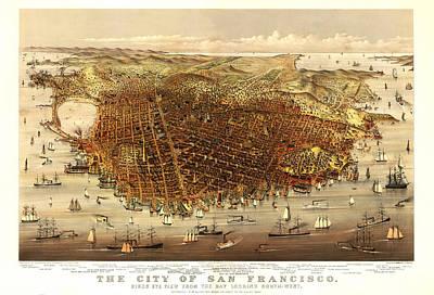 San Francisco 1878 Print by Donna Leach
