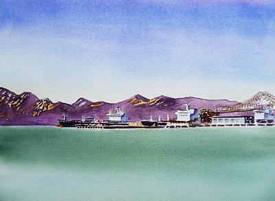 San Francisco Bay Richmond Port Original by Irina Sztukowski