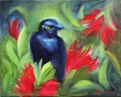 San Francisco Black Bird Print by Karin  Leonard