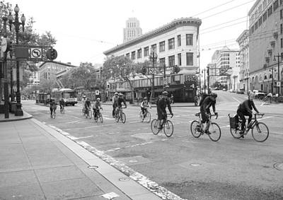 San Francisco By Cycle Print by Thomas Brown