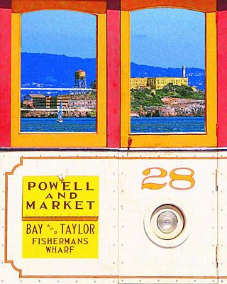 San Francisco Cablecar 28 . Alcatraz Print by Wingsdomain Art and Photography