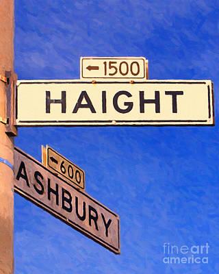 Free Speech Photograph - San Francisco Haight Ashbury by Wingsdomain Art and Photography