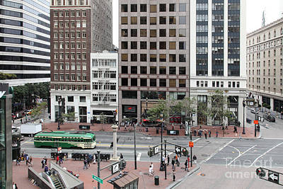 San Francisco Market Street - 5d17877 Print by Wingsdomain Art and Photography