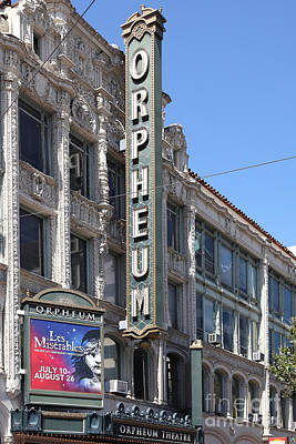 San Francisco Orpheum Theatre - 5d18007 Print by Wingsdomain Art and Photography