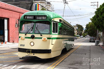 Eureka Valley Photograph - San Francisco Trolley . Castro . 7d7550 by Wingsdomain Art and Photography