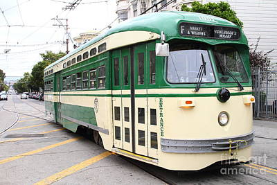 Eureka Valley Photograph - San Francisco Trolley . Castro District  . 7d7556 by Wingsdomain Art and Photography