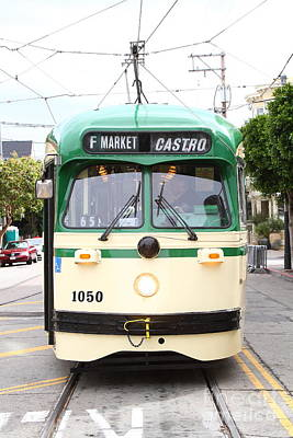 Eureka Valley Photograph - San Francisco Trolley . Castro District . 7d7572 by Wingsdomain Art and Photography