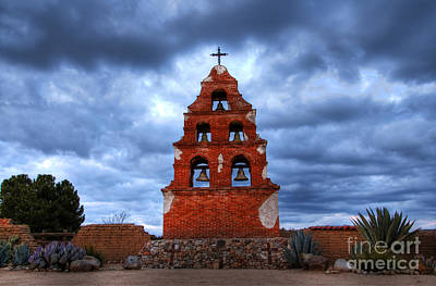 San Miguel Mission Print by Bob Christopher