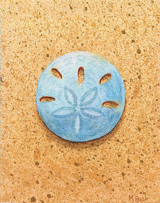Limited Edition Painting - Sand Dollar by Katherine Young-Beck