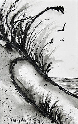 Sand Dune Drawing Print by Tracee Murphy
