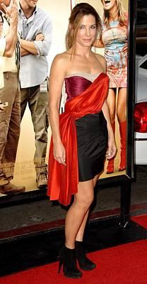 Sandra Bullock Wearing A Lanvin Dress Print by Everett