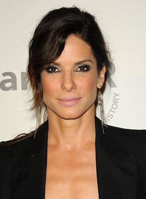 Sandra Bullock Wearing Irit Design Print by Everett
