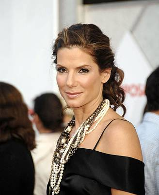 Sandra Bullock Wearing Lanvin Necklaces Print by Everett