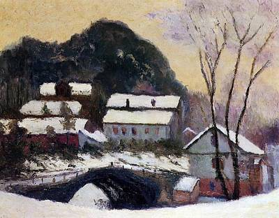 Rooftops Painting - Sandviken Norway by Claude Monet