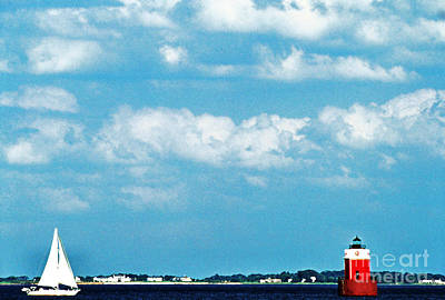Sandy Point Shoal Lighthouse Print by Thomas R Fletcher