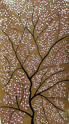 Cherry Blossoms Painting - Sanshet Jann by Sumit Mehndiratta