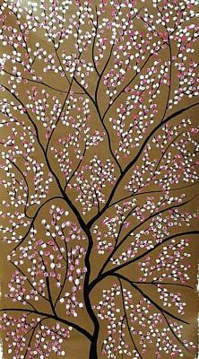 Flower Painting - Sanshet Jann by Sumit Mehndiratta