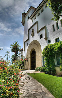 Santa Barbara County Courthouse II Print by Steven Ainsworth