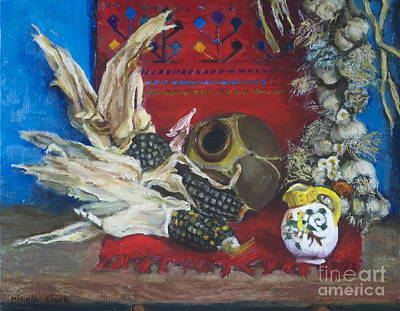 Rawhide Painting - Santa Fe Water Pot by Kristi NicolaClark