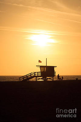 Santa Monica Photograph - Santa Monica California Sunset Photo by Paul Velgos