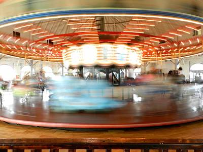 Antique Carousel Photograph - Santa Monica Carousel 002 by Lance Vaughn