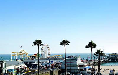 Santa Monica Pier Print by Malania Hammer