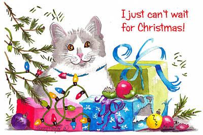 Santa's Helper Greetings Print by Terry Taylor