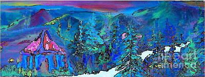 Sapphire Evening Print by Deborah Montana