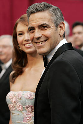 Sarah Larson And George Clooney Print by Everett